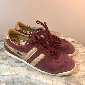 Gola Bullet mirror trainers size 7.5 burgundy